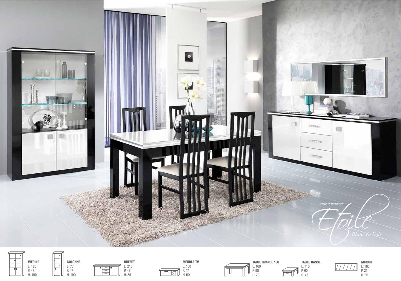 salle manger etoile nkl meuble wassa et deco. Black Bedroom Furniture Sets. Home Design Ideas